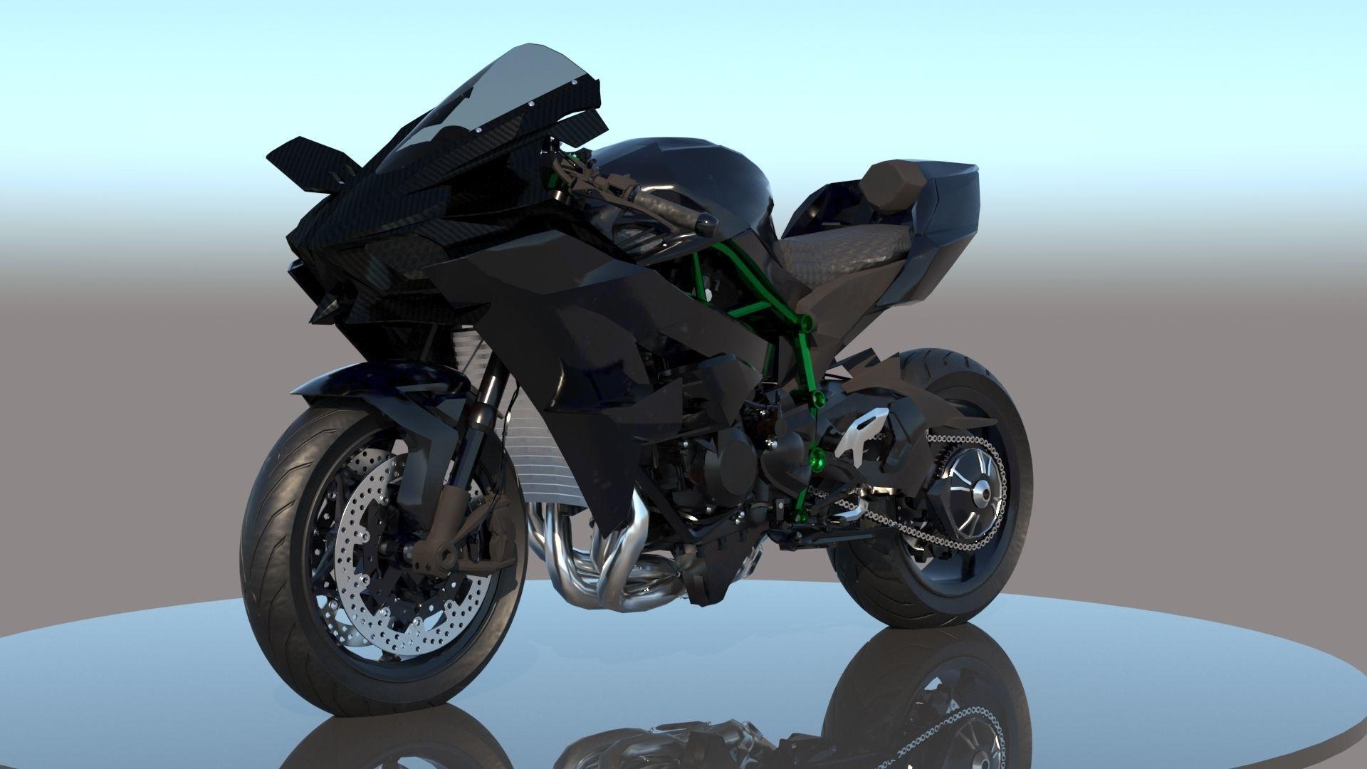 Kawasaki Ninja H2R VRay PBR