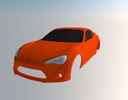 Toyota GT86 3D print model