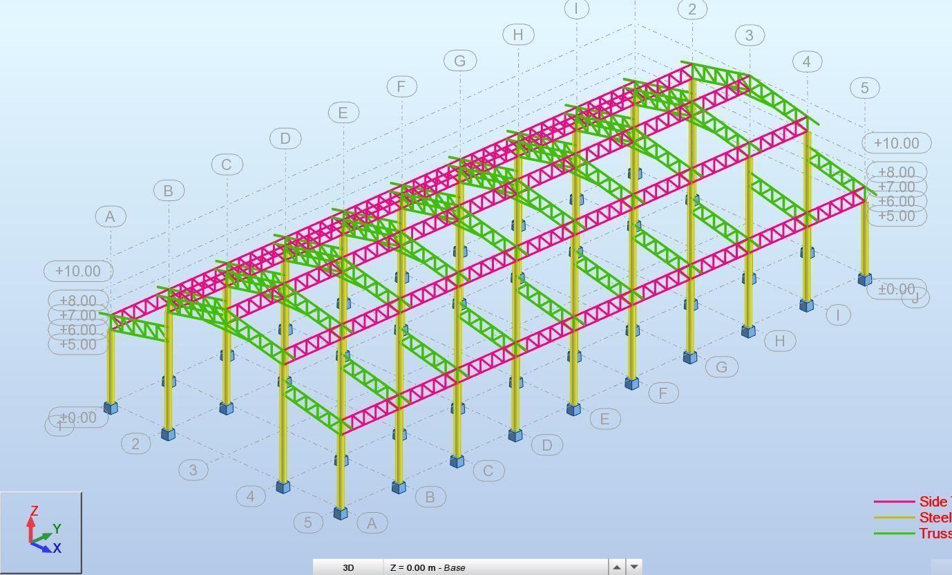 Factory Design High Detail Revit Structure- Robot Structre Model | 3D model
