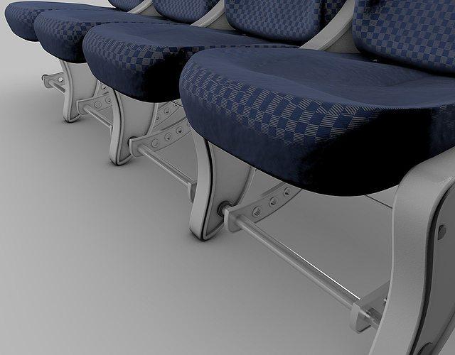 airplane-seats 3d model obj mtl 3ds fbx c4d dxf 1