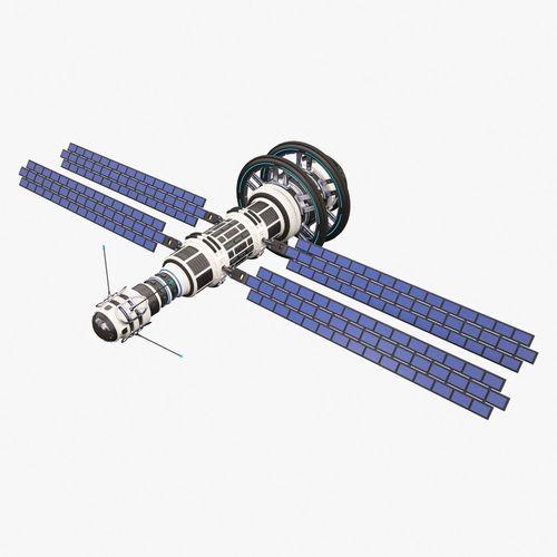 sci fi satellite 02 3d model max obj mtl fbx 1
