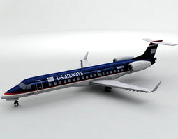Embraer ERJ 145 - US Airways 3D model