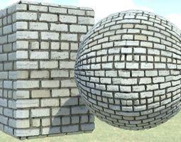 Brick 3D asset game-ready