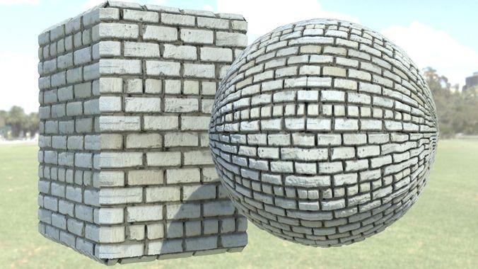 brick  3d model max obj mtl 3ds fbx 1