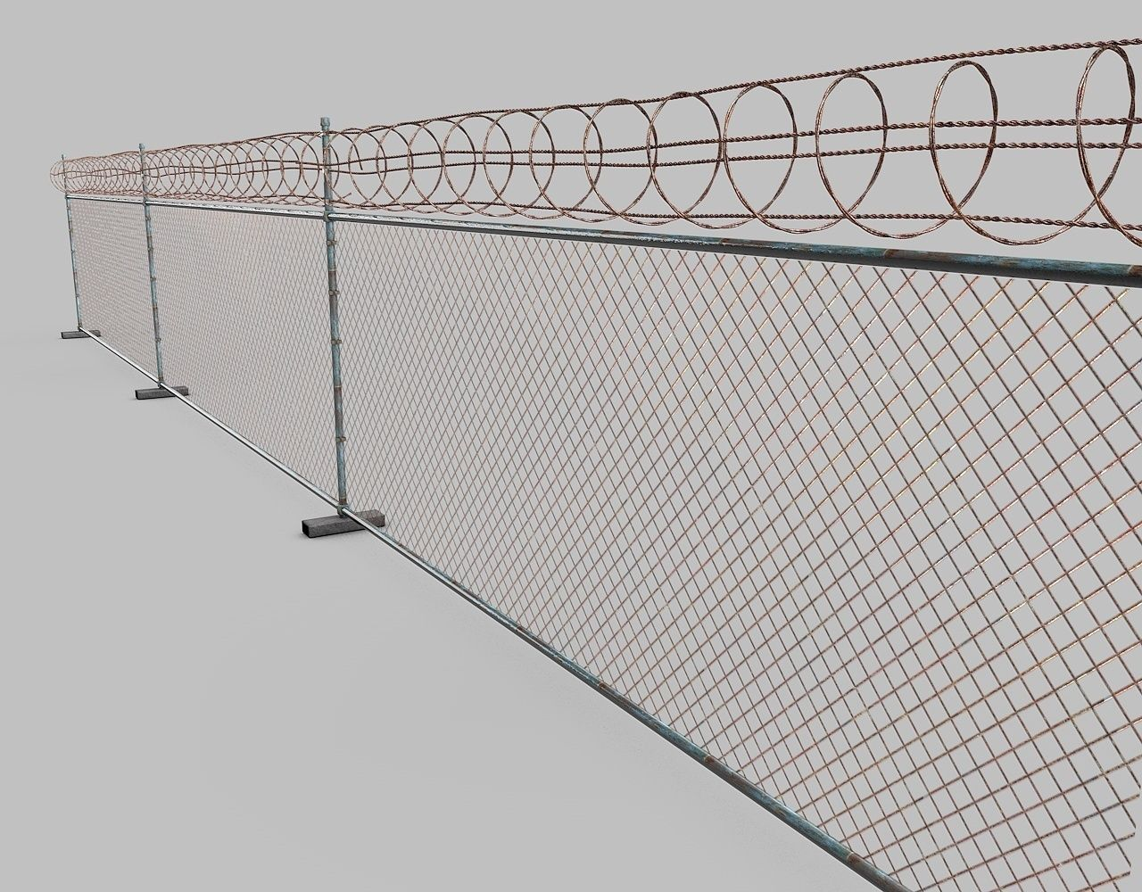 Chain Link Fence Barbed Wire. 8ft High Chain Link Fence With 3 ...