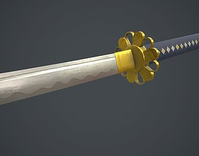 Katana Sword 3D asset low-poly PBR