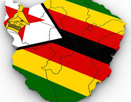 political map of zimbabwe 3d model