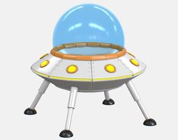Cartoon UFO V2 3D model