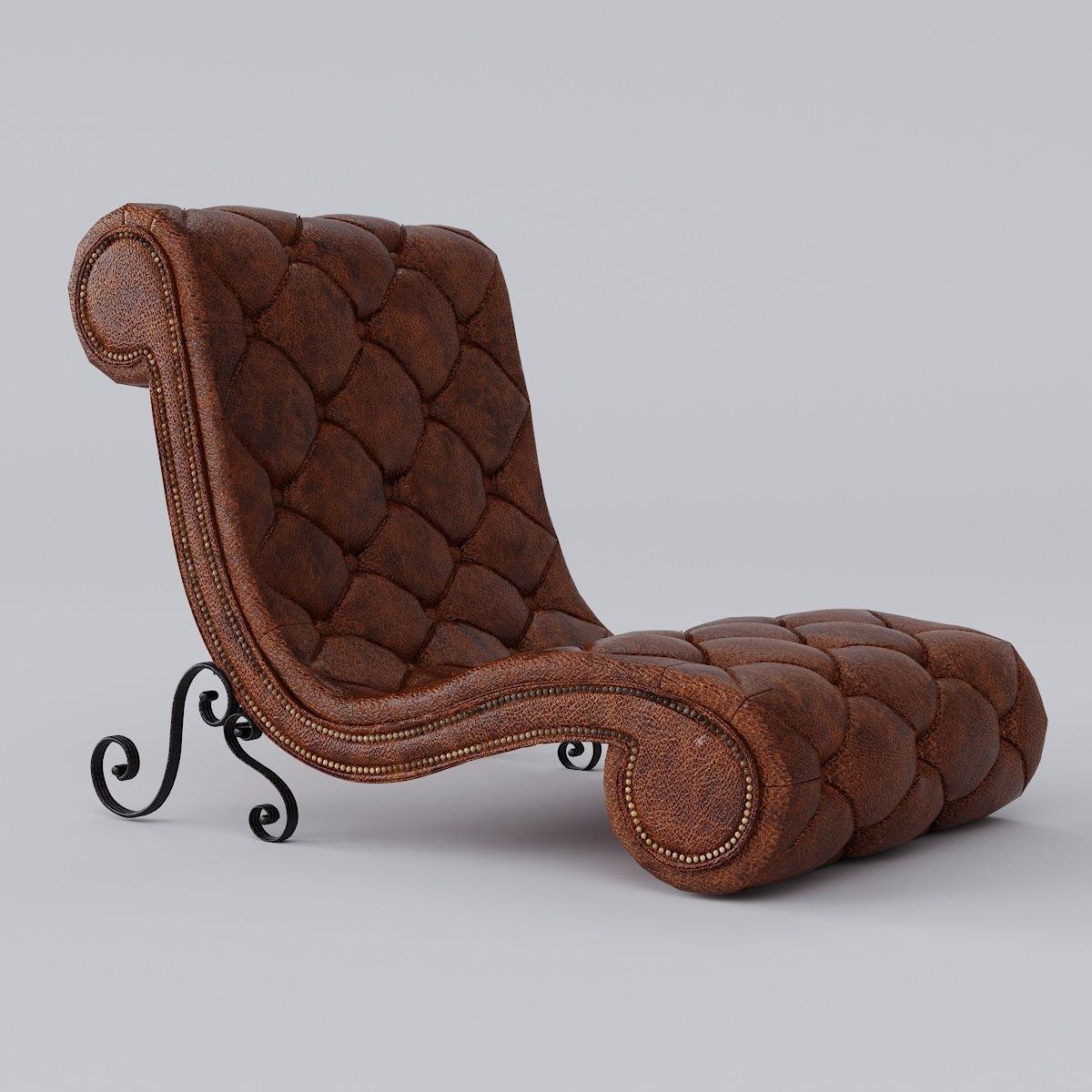 ... Armchair Chaise Lounge Trevi Aico 3d Model Max Obj Mtl Fbx Stl 2 ...