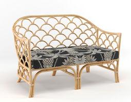 3D model The Family Love Tree Panama Sofa Natural