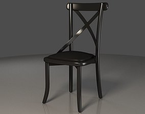 3D Black X backrest Coffee Chair