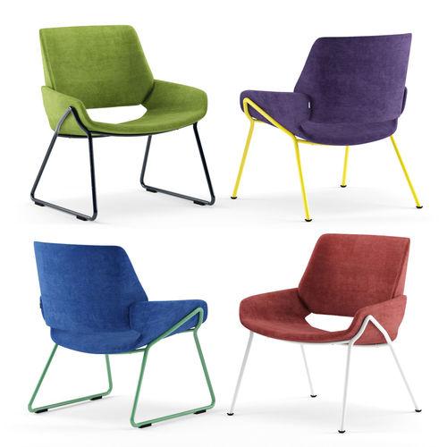prostoria monk easy chair metal by grupa 3d model max obj mtl 1