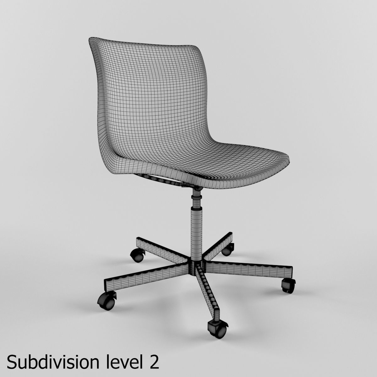 ... Ikea Snille Chair 3d Model Max Obj Mtl Fbx 3 ...