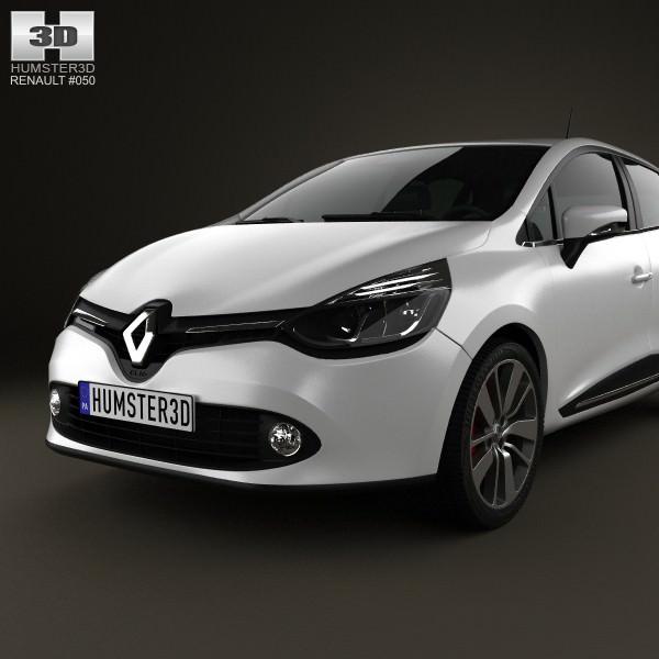 Renault Clio 4: Renault Clio IV 2013 3D Model MAX OBJ 3DS FBX C4D LWO LW
