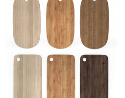 Wooden Chopping Boards Set of 6 3D model