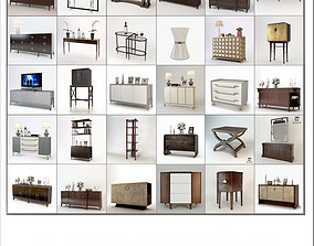 3D Baker Cabinets Collection