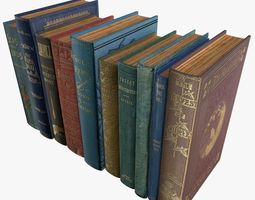 Old Books Type 7 Low Poly 3D model