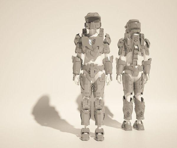 & Custom Master Chief Halo4 cosplay style costume files 2