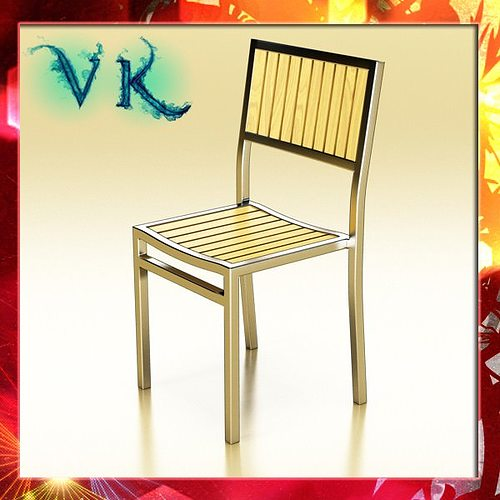 outdoor chair 3d model max obj 3ds fbx mtl mat 1