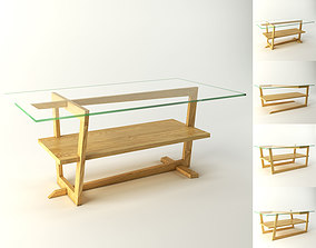 3D asset Coffee Tables four variations