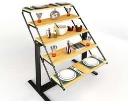 3D model Swing Table Rigged
