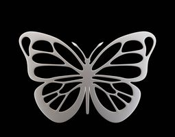 platinum Butterfly Pendant 3D printable model