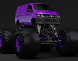 Monster Truck VW Transporter 3D