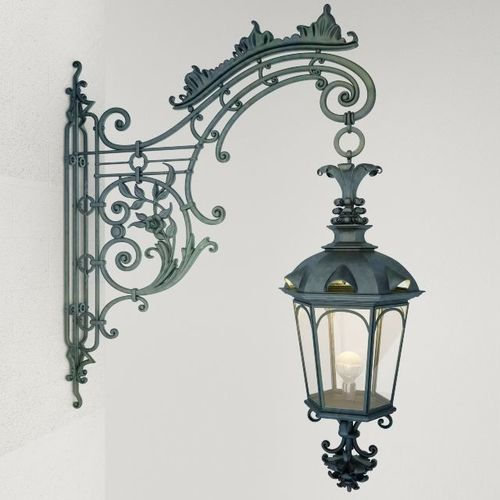 wrought iron wall lamp 3d model max obj mtl fbx 1