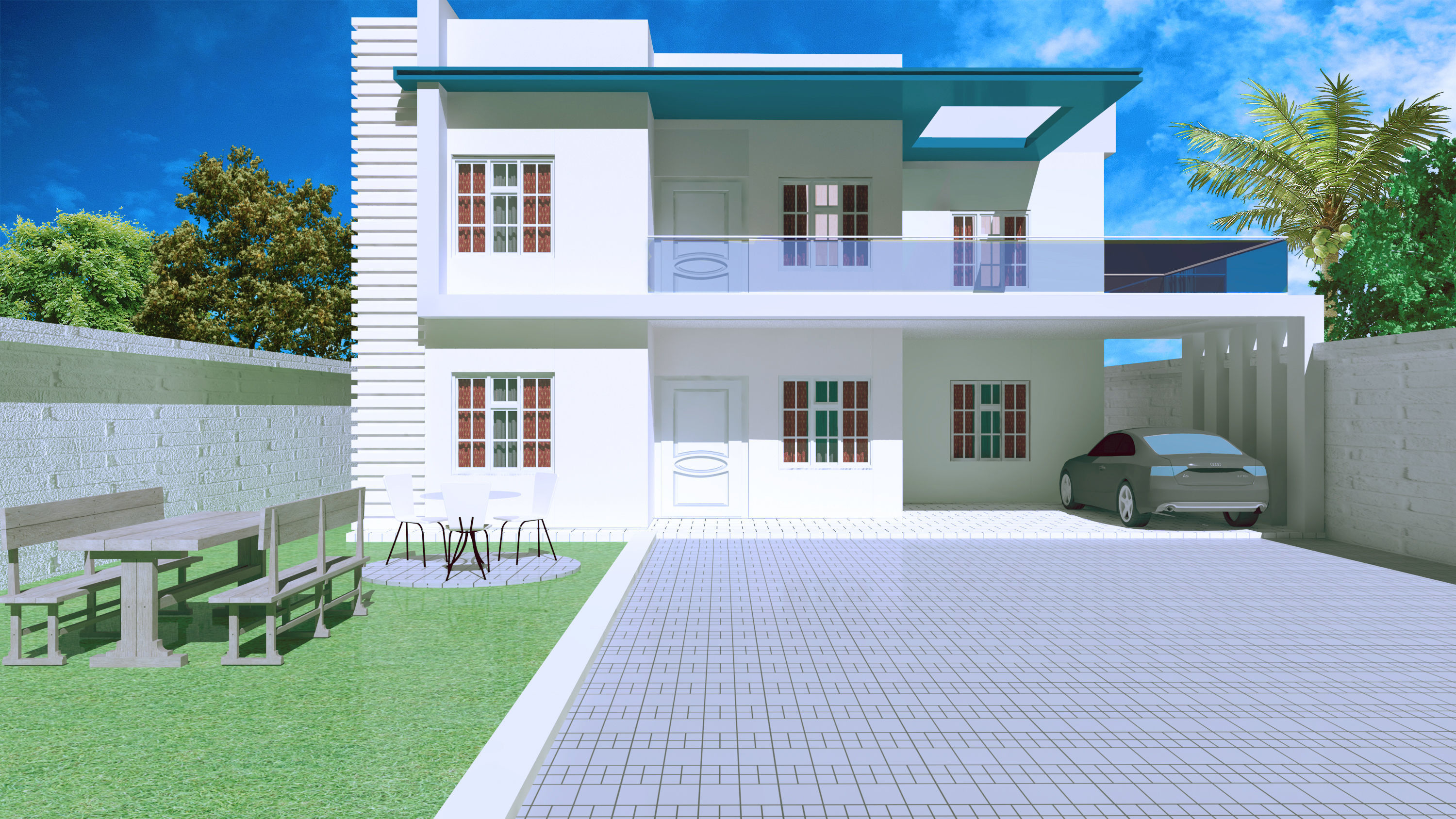 Modern House Exterior Design 3D Model  CGTrader