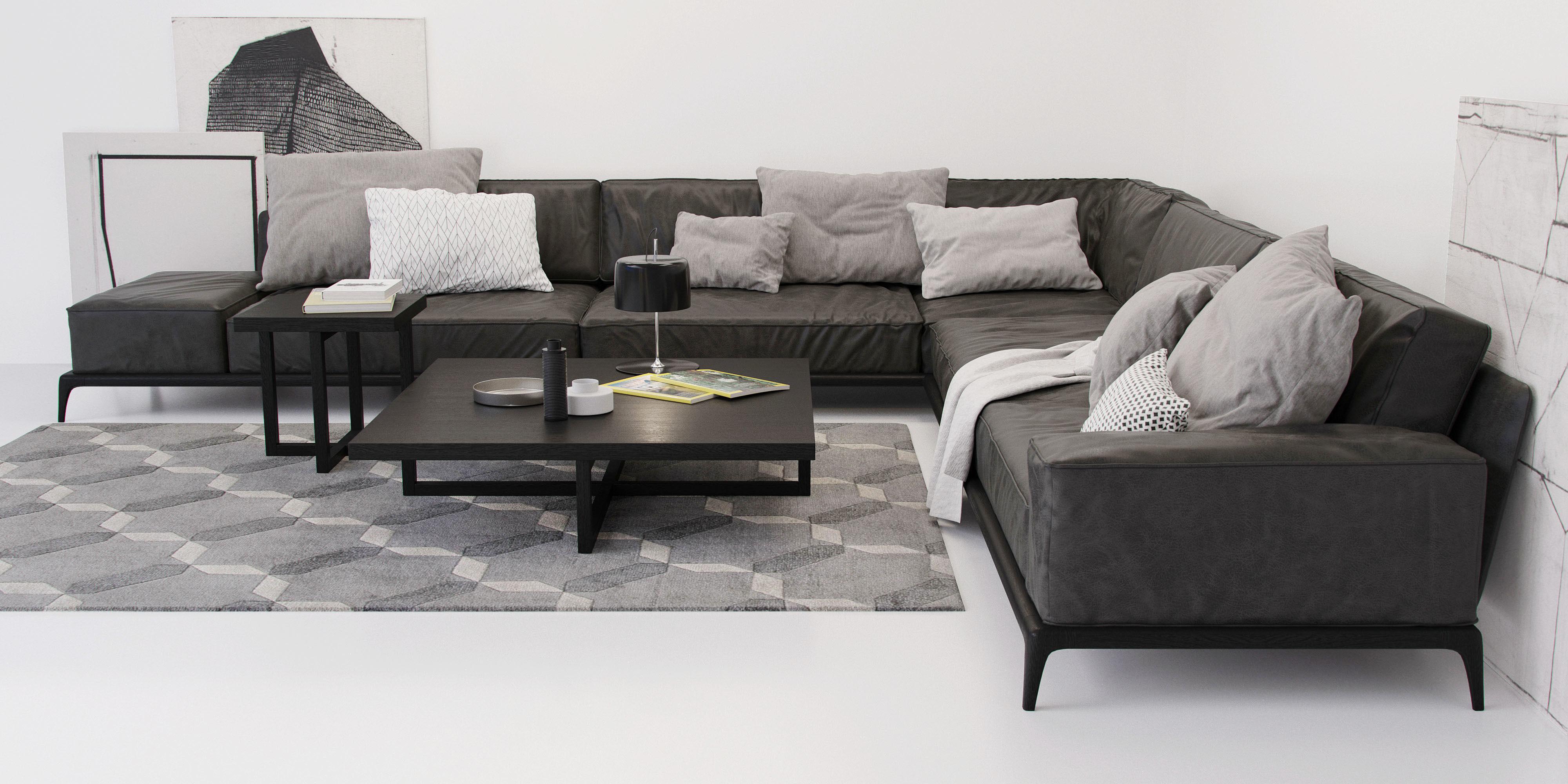 Poliform Park Sofa Model Max Obj Mtl 2