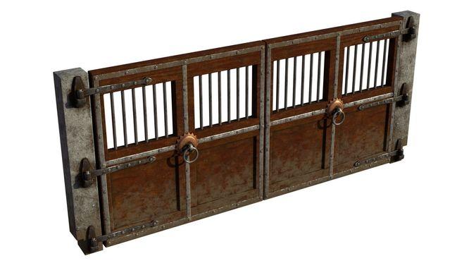 arena - dungeon door 3d model obj mtl fbx blend dae ply spp 1