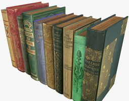 Old Books Type 6 Low Poly 3D asset
