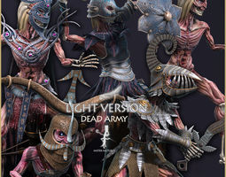 Dead Army Light Vershion 3D asset