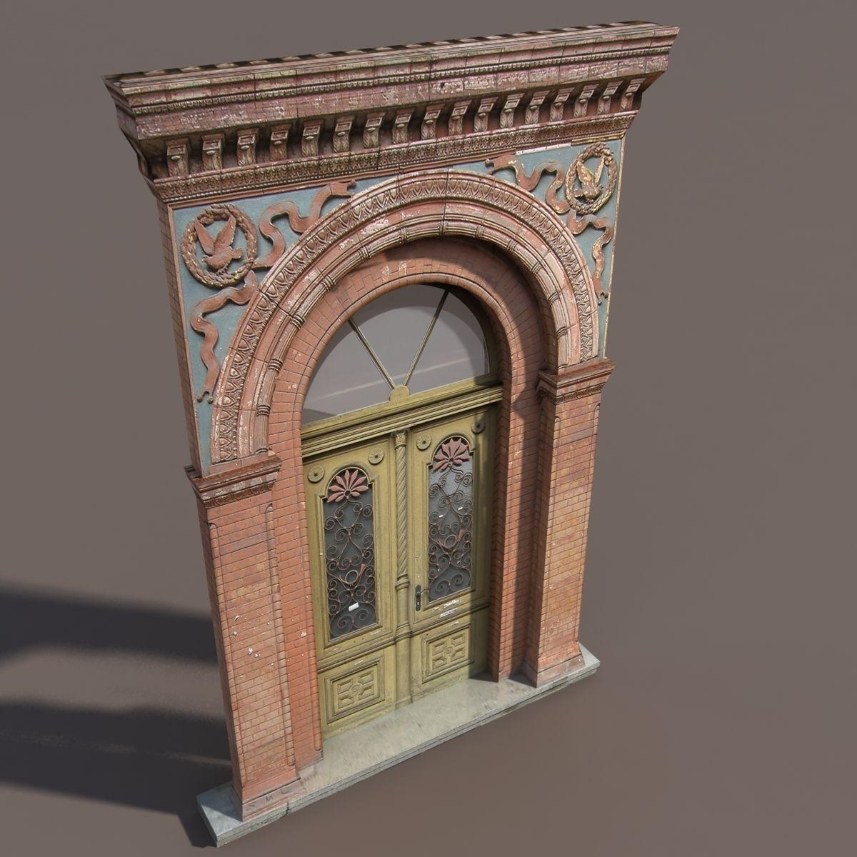 ... door portal low poly 89 3d model max obj 3ds lwo lw lws hrc xsi blend ... & Door portal Low poly 89 3D | CGTrader