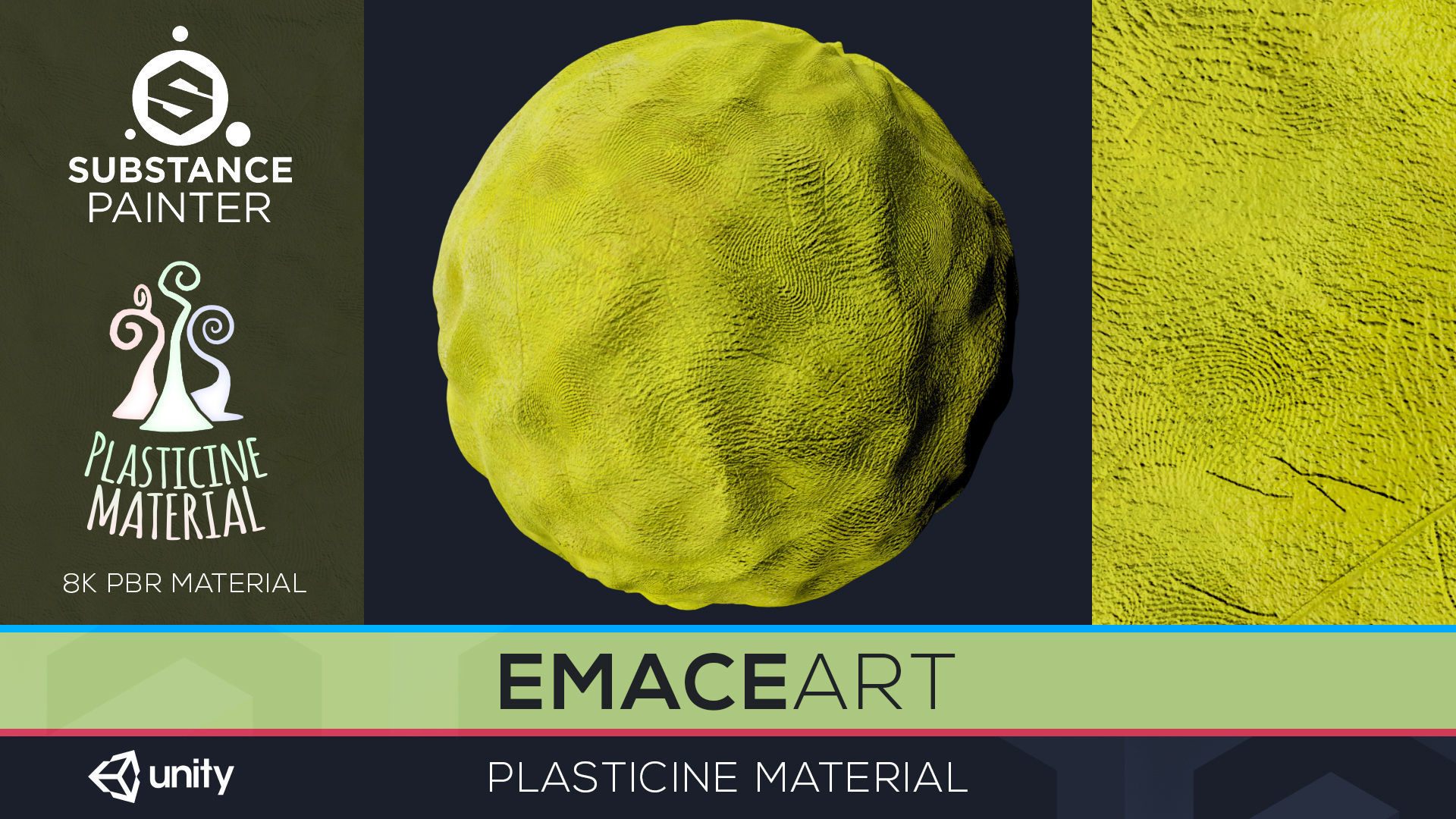 PBR Toon Plasticine sbsar Material 6 Substance Unity Material | Texture