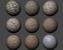 Stucco Textures Pack 6 3D
