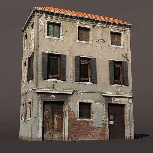 3d apartment building venice low poly 144 cgtrader for Apartment model house