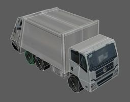 3D model game-ready Garbage Truck