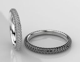 Stylish wedding rings with diamonds 3D printable model