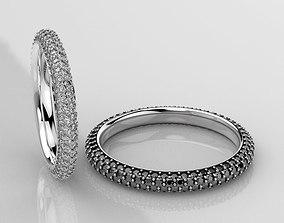 Stylish wedding rings with diamonds 3D printable model