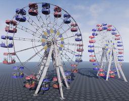 3D asset Ferris Wheel UE4