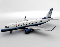 Embraer ERJ 170 - United Express 3D model