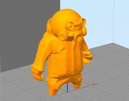 Gang Beasts hazmat 3D printable model
