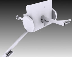 2 Pounder Anti-Tank Gun 3D model