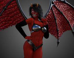 Female Demon - Succubus 3D model animated