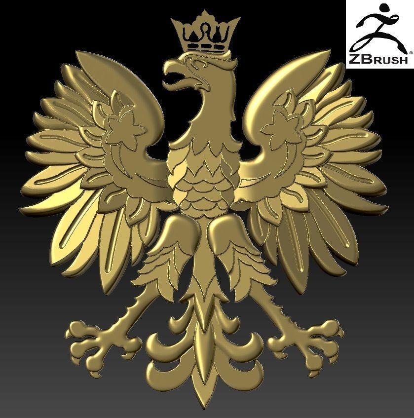 coat of arms Poland NEW | 3D Print Model