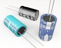 electrolytic capacitor 3D model