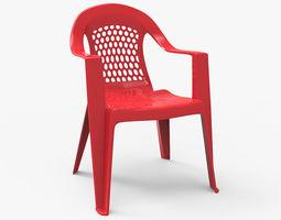 Plastic Outdoor Chair 3D asset