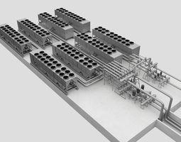 3D model cooling system