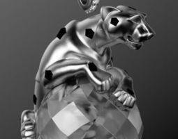 panther pendant 3d model